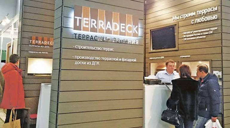 Террасы и вентфасады от компании «Террадек» на выставке «Деревянный дом - 2016»